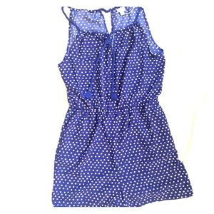 NWT-Blue and white dot jumper with pockets